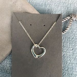 Brilliant Earth heart diamond necklace NWOT